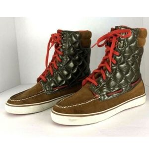 Sperry Top Sider Acklins Quilted High Top Boots